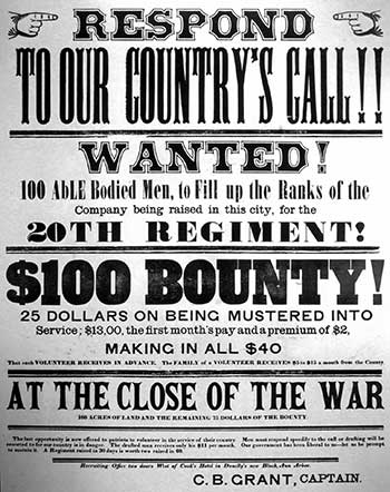 Call to arms, Civil War, Bentley Historical Library