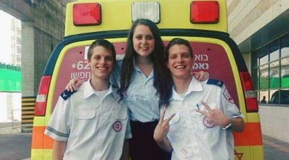 Jesse Adler with her MDA unit. (Courtesy of Adler.)