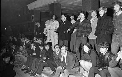 Kids at LSA Building, 1969