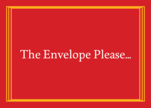 A generic envelope that reads: The envelope, please. Stock.