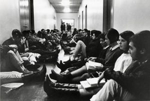 Student sit-in at U-M in the early '60s.