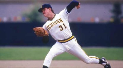 U-M pitcher Jim Abbott