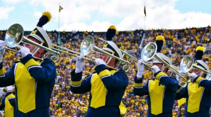 Photo credit: UofM marching band