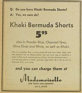 Ad for Bermudas