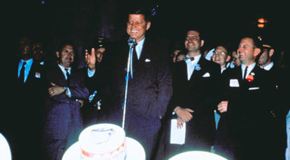 JFK at the Michigan Union, 1960.