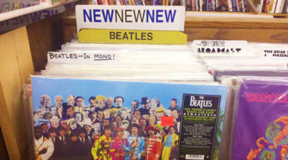 Beatles, record store