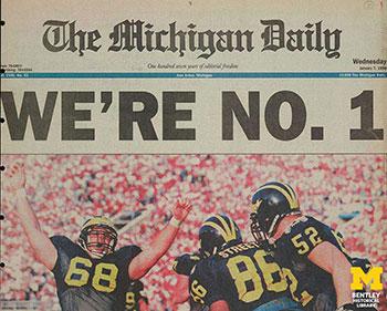 Michigan Daily cover, Jan. 7, 1998