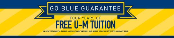 Go blue guarantee graphic
