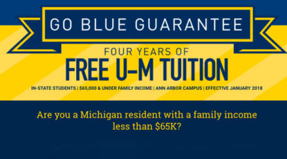 Go Blue Guarantee Graphic