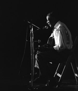 Son House, 1969. (Image: Bentley Historical Library).