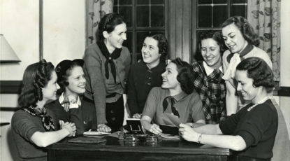 Women on campus, Bentley Historical Library