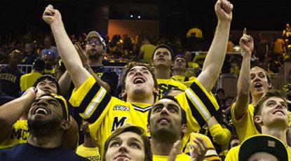 Wolverines celebrate