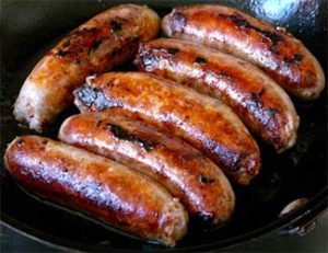 Grilling sausages, stock