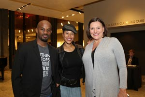 Morisseau with husband and artistic director at DPT