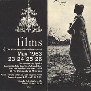 Ann Arbor Film Festival Program, 1963