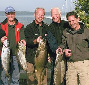The Howe men go fishing.