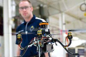 Danny Ellis with a MAAV drone. (Image courtesy of SkySpecs.)