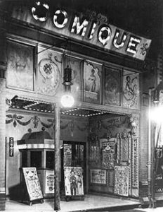 A nickelodeon theatre, 1910