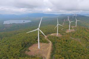 Wind farm, aerial