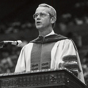 Former COE Dean Charles Vest (Image courtesy of U-M's Bentley Historical Library.)