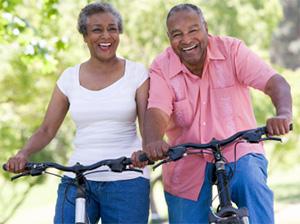 Happy cyclists.