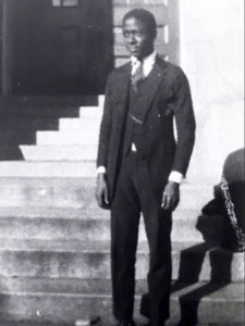 Clarence Norris in the steps of the Michigan Union.