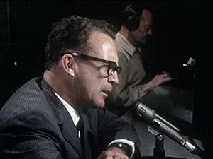 Ernie Harwell at mic