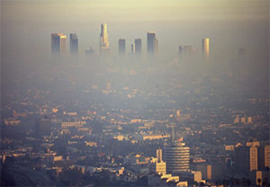 Los Angeles in the smog