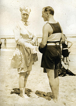 Marjorie Merriweather Post in bathing gear, Bentley Library.
