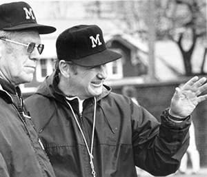 Gerald Ford with Bo Schembechler, 1988. (Image: Bentley Historical Library.)