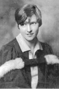 MacGill as a college student.
