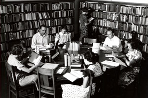 The Hopwood Room in Angell Hall is a hub for creative writers. (Image: Bentley Historical Library.)