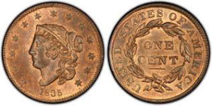Early-to-mid 19th-century large cents (1793-1856) are among the most collected coins today.
