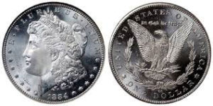 Morgan silver dollars (1878-1921) are among the most widely collected coins.