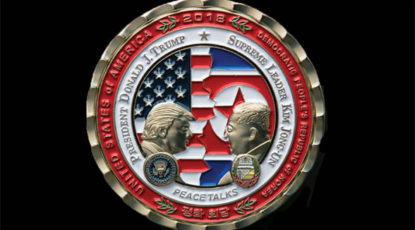 Trump coin with Kim Jong Un