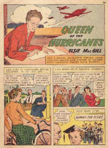 Comic book page with MacGill story