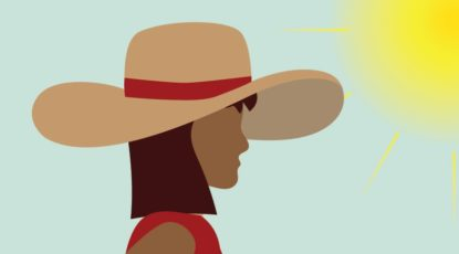 Graphic of a woman in the sun