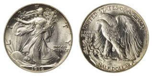 "The ""Walking Liberty"" half-dollar (1916-47)"