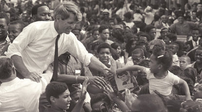 Robert F. Kennedy, Detroit, 1968. (Image credit: Andrew Sacks.)