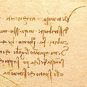 DaVinci's mirror writing.