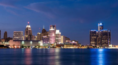 Detroit skyline (Image: Michigan Photography.)