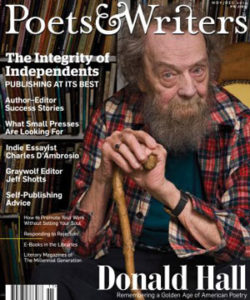 Donald Hall on Poets & Writers cover
