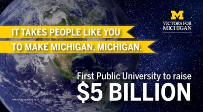 U-M raises $5 billion