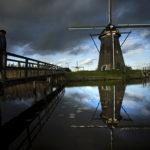 Windmills in Kinderdijk, just outside of Rotterdam.