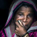 Sajeda breaks into tears