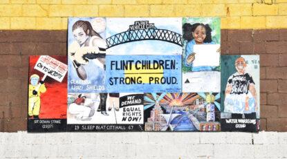 Poster for José Casas' new play, Flint.