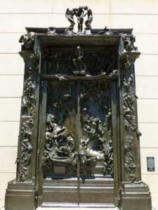 Auguste Rodin's rendering of the Gates of Hell.