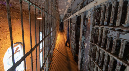 A cellblock at the former Ohio State Reformatory in Mansfield, Ohio. (Photo by Roger Hart, Michigan Photography)