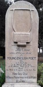 Keats' gravestone