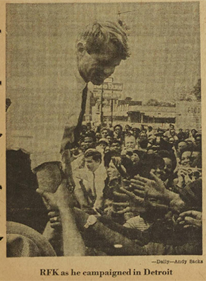 This image ran in the Michigan Daily in 1968. (Michigan Daily archives, U-M's Bentley Historical Library.)
